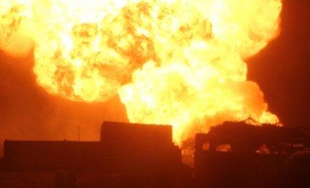 O nava a luat foc în şantierul naval Midia-Năvodari