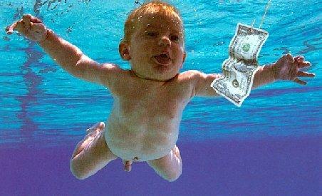 Poza de copertă a unui album Nirvana, reprezentând un bebeluş gol, interzisă de Facebook