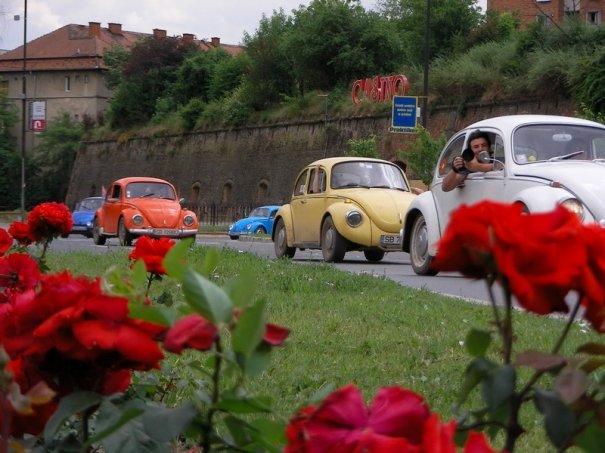 """Paradă de """"broscuţe"""" la Sibiu. Circa 70 de maşini de epocă s-au adunat la Sibiu Oldies Meeting"""