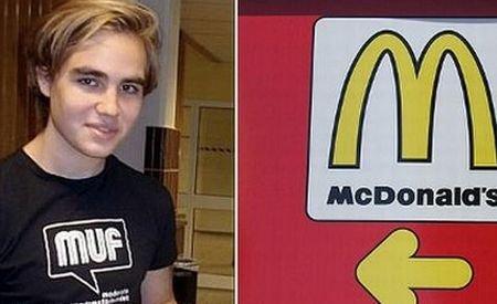 Exemplu pentru beizadelele din România: Fiul premierului Suediei, angajat la un fast-food