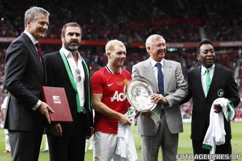 Paul Scholes s-a despărţit de fanii lui Man. United cu un gol senzaţional marcat în meciul de retragere
