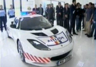 Un bolid de 350 de cai putere a intrat gratuit în dotarea Poliţiei Române