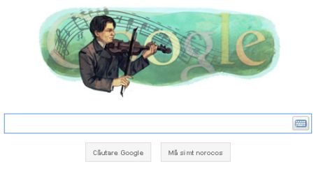 Google îi dedică un doodle lui George Enescu, la 130 de ani de la naşterea compozitorului