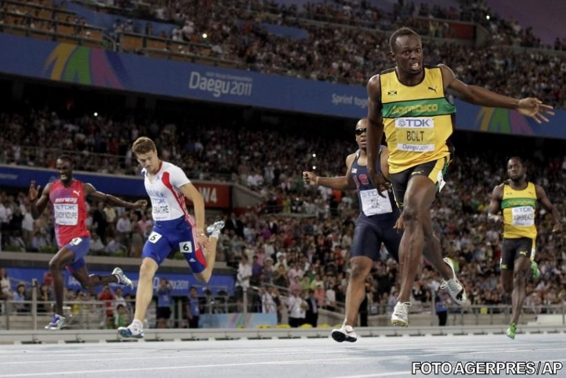 CM de atletism: Usain Bolt a câştigat titlul la 200 de metri