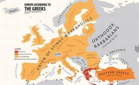 Harta stereotipurilor: România, ţara vandalilor şi a ţiganilor. Suedezii, un popor de perverşi. Bulgarii, retardaţi
