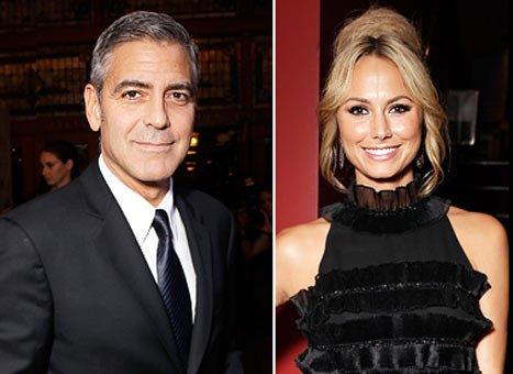George Clooney şi noua sa iubită Stacy Kiebler, pentru prima dată împreună în public