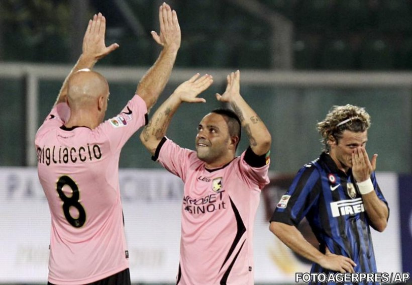 Serie A: Debut cu stângul pentru Inter, 3-4 la Palermo