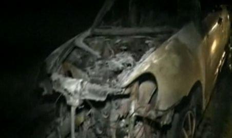 Brăneşti. O maşină de 50.00 de euro s-a făcut scrum într-un incendiu