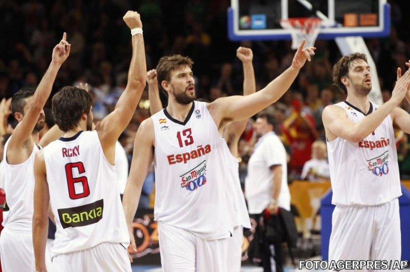 Spania şi Franţa vor juca finala Campionatului European de baschet