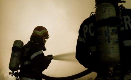 Incendiu puternic de vegetaţie lângă o pădure din judeţul Braşov