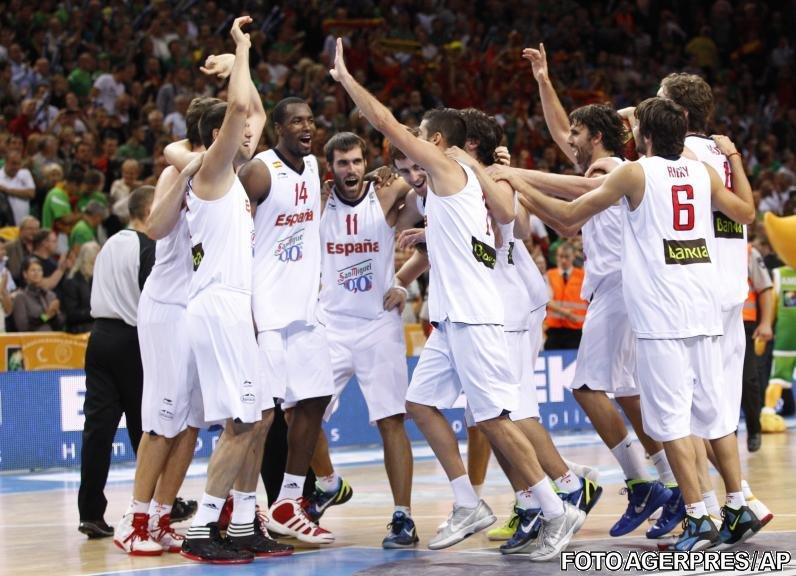 Spania şi-a păstrat titlul european la baschet, după 98-85 în finala cu Franţa