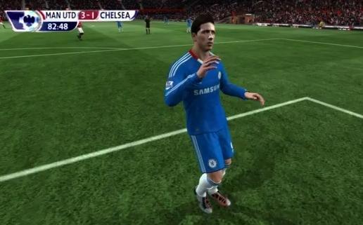 Ratarea lui Torres din meciul cu Manchester Unted, recreată pe FIFA 11