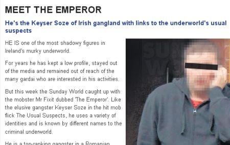 """Un român supranumit """"Împăratul"""" este şeful mafiei din Irlanda"""