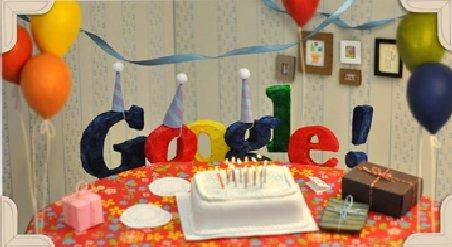 Google dă petrecere mare. Vedeţi cu ce vă serveşte de ziua lui