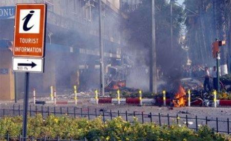 Explozie în Antalya, în faţa unei clădiri guvernamentale. Un om a murit şi alţi doi au fost răniţi