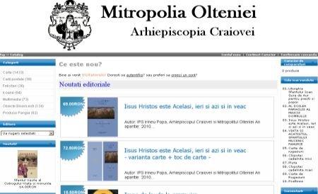 Mitropolia Olteniei a deschis un magazin online cu obiecte bisericeşti