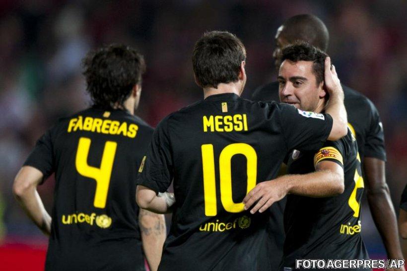 Xavi şi-a sărbătorit recordul de prezenţe în La Liga cu un gol care a adus victoria Barcelonei