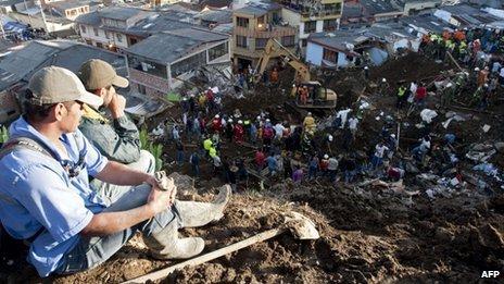Columbia. O alunecare de teren a provocat moartea a 50 de persoane