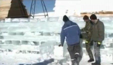 Hotelul de gheaţă de la Bâlea Lac, aproape finalizat. Cât costă o noapte de cazare