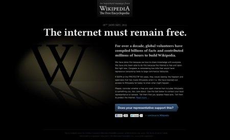 Cum să-ţi iei informaţiile de pe Wikipedia pe timpul protestului faţă de actul SOPA