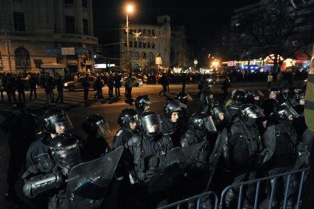 Circulaţia în Piaţa Victoriei a fost reluată, manifestanţii au plecat din zonă