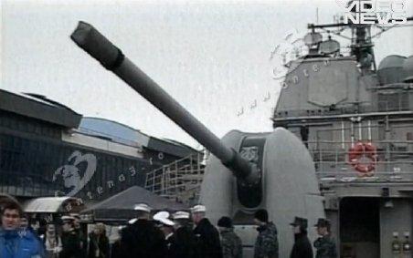 Una dintre cele mai cunoscute nave ale marinei americane, în portul Constanţa pentru un exerciţiu militar