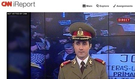 Militarul protestatar Alexandru Gheorghe a apărut la CNN. Locotenentul a manifestat în uniformă, conştient de riscuri