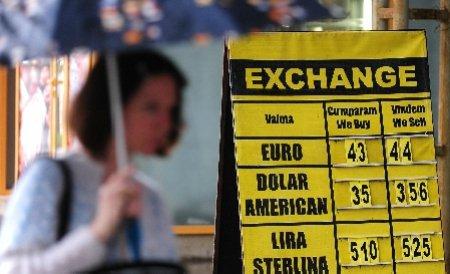 Leul pierde teren în fața euro, dar se apreciază în raport cu dolarul. Vezi cursul BNR