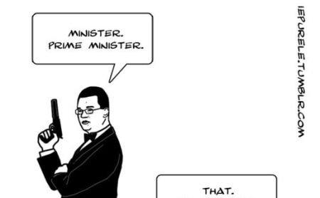 """""""Ministru. Prim-ministru"""". Mihai Răzvan Ungureanu, caricaturizat în stil James Bond"""