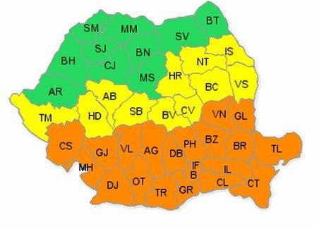 Avertizare COD PORTOCALIU: Marţi va ninge abundent, timp de 12 ore, în Bucureşti şi 13 judeţe