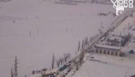 România, văzută din elicopter: O ţară scufundată sub o mare de zăpadă