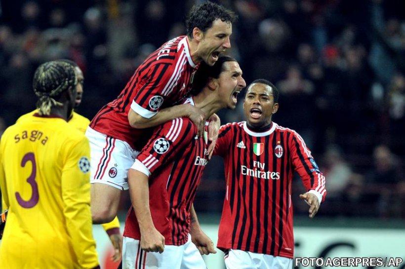 AC Milan a învins cu 4-0 pe Arsenal, în optimile Ligii Campionilor. Zenit, victorie dramatică cu Benfica