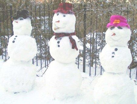 Cluj: Protest inedit cu oameni de zăpadă, care îi înlocuiesc pe cei ce nu pot participa