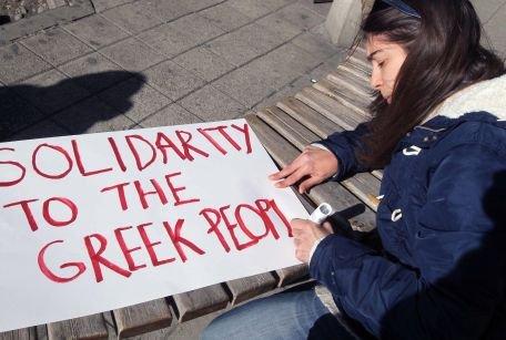 Sute de persoane se pregătesc de proteste în centrul Atenei