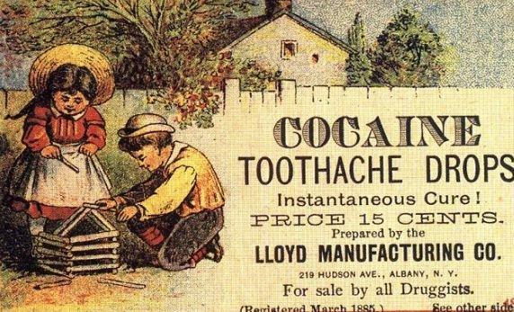 COCAINA e bună pentru durerile de dinţi. Bărbaţii sunt mai buni decât femeile. Reclamele ŞOCANTE care acum te-ar INDIGNA