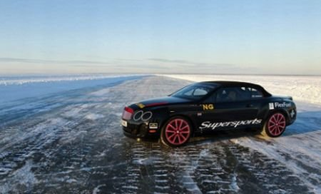 Drifturi spectaculoase pe marea îngheţată