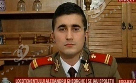 Locotenentul care a protestat la Bucureşti în uniforma militară a fost trecut în rezervă
