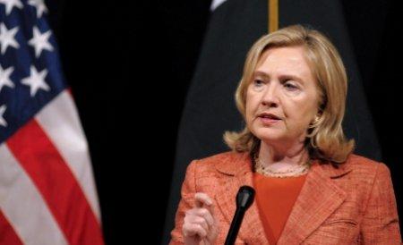 """Hillary Clinton: Regimul sirian riscă să plătească """"un preţ mare"""""""