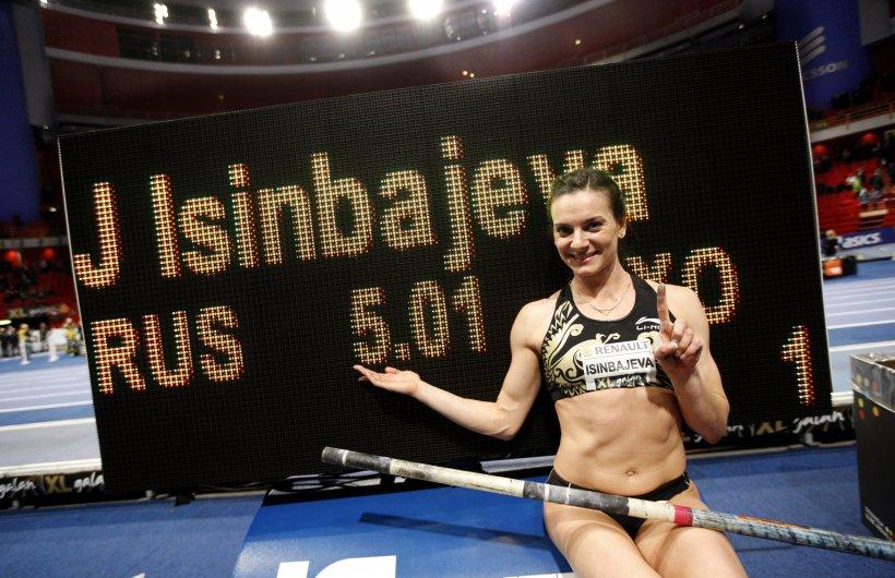 Yelena Isinbayeva a stabilit un nou record mondial în sală la săritura cu prăjina