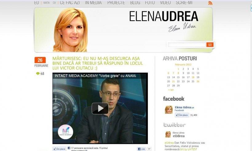 Ciutacu, lăudat de Elena Udrea. Mărturisesc: Eu nu m-aș descurca așa bine!