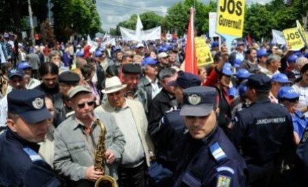 Sindicatele din România vor organiza, miercuri, acţiuni de protest faţă de austeritatea bugetară