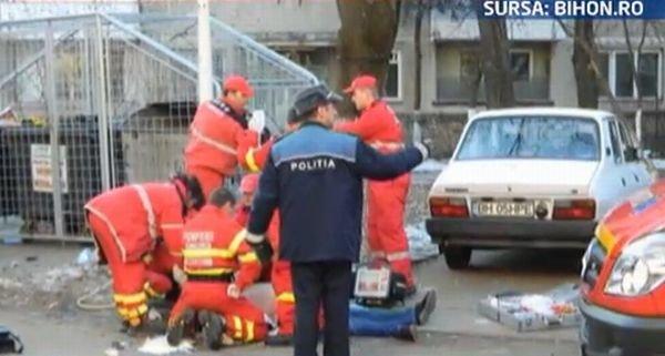 PRIMELE IMAGINI de la locul EXECUŢIEI în stil mafiot din Oradea. Un bărbat a fost împuşcat în plină stradă