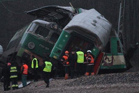 Polonia. 14 persoane au murit şi alte 60 au fost rănite în urma coliziunii dintre două trenuri
