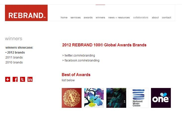 Seed Consultants, singura agenție românească dublu premiată la competiția REBRAND™ 100® Global Awards în 2012