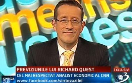 Richard Quest, cel mai respectat analist economic al CNN, despre reîntregirea salariilor din România