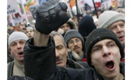 Noi proteste în Rusia. Circa 2.000 de oameni au manifestat la Sankt-Petersburg împotriva preşedintelui Putin