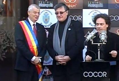 Actorul Ion Caramitru a primit o stea pe Aleea Celebrităţilor din Bucureşti