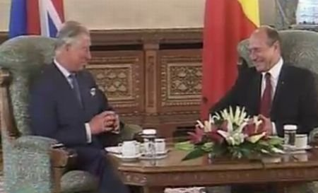 Prinţul Charles a fost primit la Palatul Cotroceni de preşedintele Băsescu