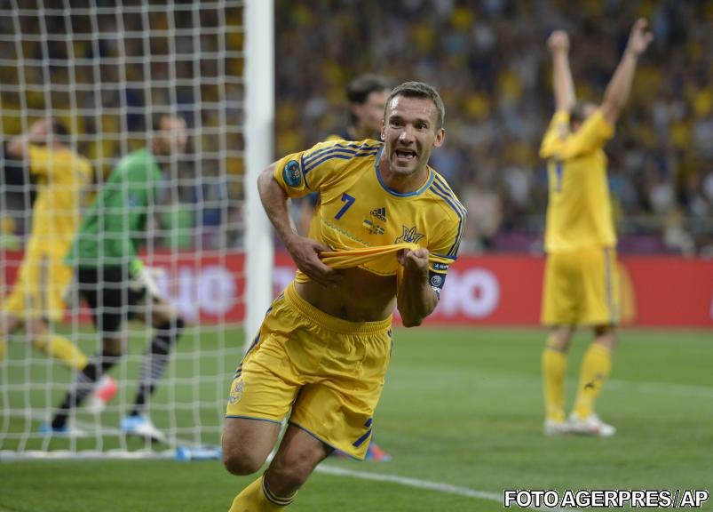 Ucraina învinge Suedia cu 2-1 prin dubla lui Shevchenko