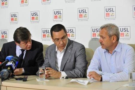 Liderii USL şi cei ai UDMR au discutat, la Guvern, despre încheierea unor alianţe politice locale